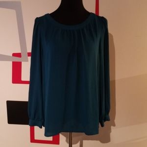 Large Long sleeve teal blouse from LOFT
